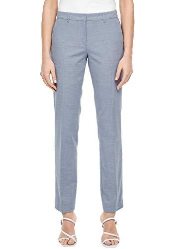 s.Oliver BLACK LABEL Damen Slim Fit: Straight leg-Businesshose dark blue panneau 42.REG