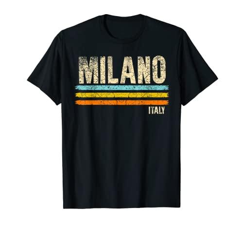 Milán Lombardía Italia Fútbol italiano Retro City Camiseta