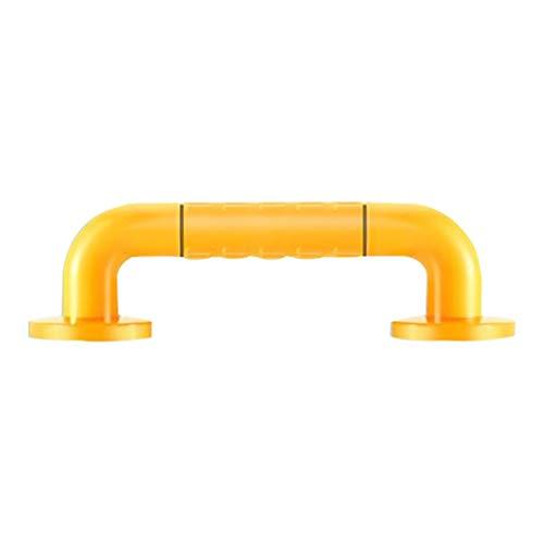 PolMG douche-armleuning, antislip, van roestvrij staal, voor badkamer, zonder barrière, middeleeuws, waarschuwingslamp met balansgreep, optioneel