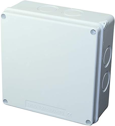 AERZETIX - Caja de Derivación Eléctrica Rectangular 150x150x70mm - Caja de Empalme/Distribución Impermeable IP65 - Lisa superficie - en Aplique - Soporte - Fijación - C45798