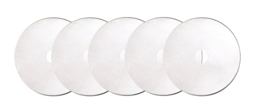 Fiskars 193730-1004 Straight Rotary Replacement Blades, 60mm, 5 Pack , Silver