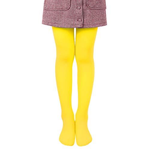 L&K-II Collant per bambini collant estivi di danza classica con piede Calze morbide e comode Collant elastici 27251 giallo 122/128
