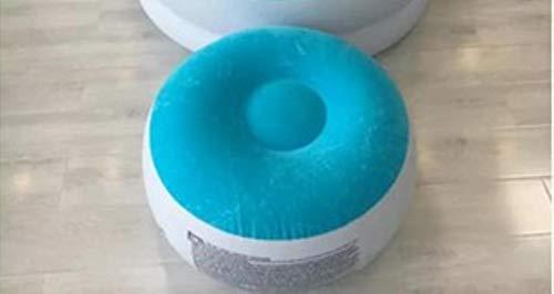 Clkdasjd aufblasbares Sitzkissen Sitzkissen blau