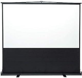 イーサプライ プロジェクタースクリーン 100インチ ワイド 16:9 自立式 床置き パンタグラフ式 大型 EEX-PSY2-100HDV