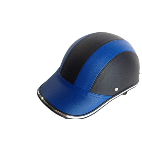 Casco clásico para motocicleta, para adultos, certificación DOT, estilo retro, gorra de béisbol, para hombres y mujeres jóvenes y jóvenes, casco de motocicleta abierto (54-60 cm), E, L