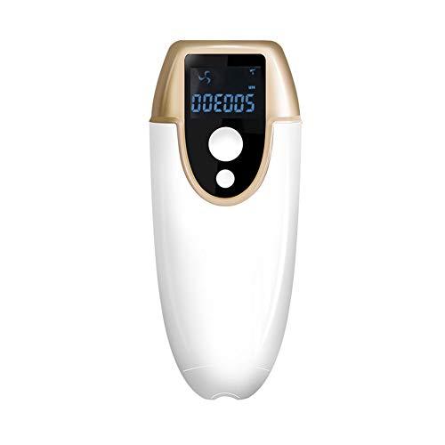 HXXXIN Laser-Haarentfernungsgerät, Schmerzloses Photonen-Haarentfernungsgerät, Haushaltskörper-Haarentfernungsgerät, Privates Teil-Haarentfernungsgerät,Gold