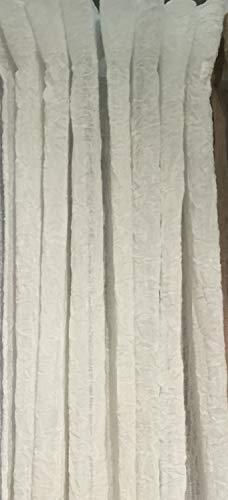 LillaBelle Vorhang LIA Offwhite Gardinen Schal 130x280 cm 2 Stück Crash Crincle Knitter Look