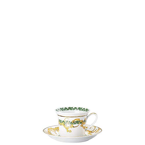 Versace Home Rosenthal Christmas A Winter's Night Cappuccino Tasse mit Untertasse