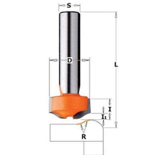 CMT Orange Tools 981,501,11 x Fraise hw salvagoccia bord pour corian. s 12 d 25,4 x 12,7 7,93 r