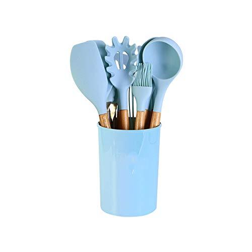 Utensilios Cocina Silicona Azul Marca KUAQI
