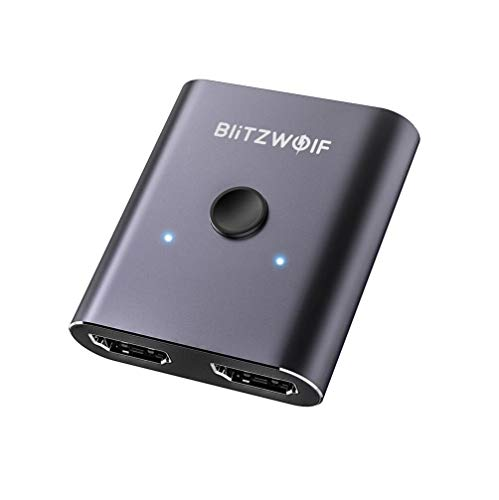 Blitzwolf BW-HDC2 HDMI-Splitterschalter, bidirektional, 1 Eingang, 2 Ausgänge, 2 Eingänge, 1 Ausgang, 1080p Video-Display-Dongle