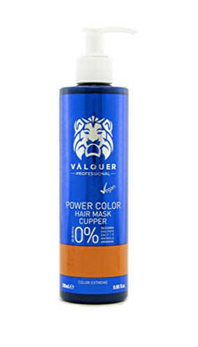 Válquer Professional Mascarilla Power Color cabellos teñidos. Vegano y sin sulfatos (Cobre). Potenciador color pelo- 275 ml