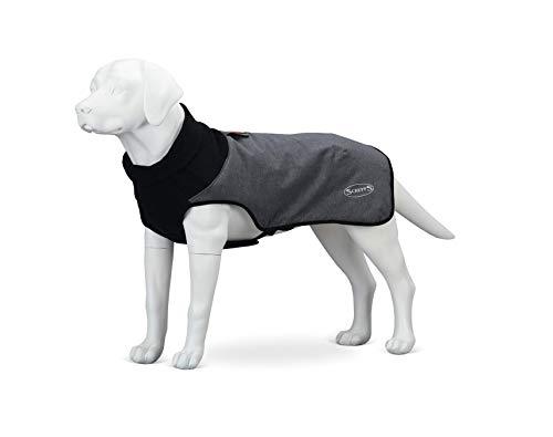 Scruffs Hundemantel, gesteppt, Thermomantel, 70 cm, XXL, Cajun-Grau, 400 g