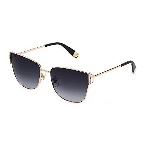 FURLA Gafas de sol SFU464 300 K 58-16-135 para mujer, oro rosado, lentes ahumadas degradadas