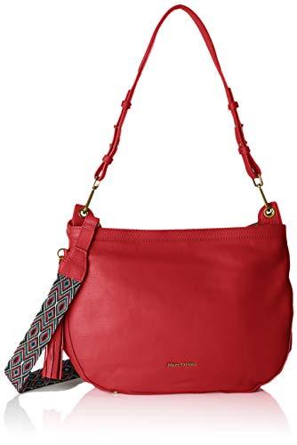 Marc O'Polo Damen 80718004102100 Schultertasche, Rot (Chili Red), 12x32x30 cm