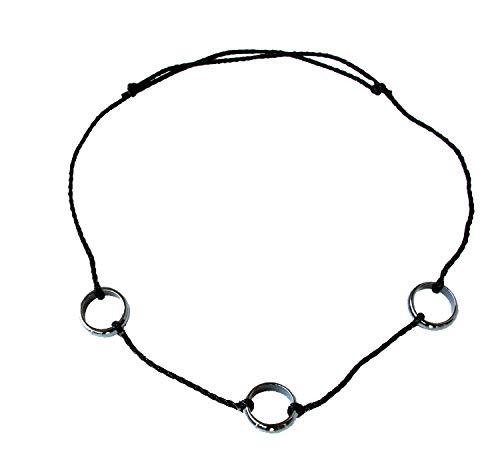 VAWAA Hokage Cosplay Uchiha Itachi Seil Ketten Halskette Schwarz Obsidian Herren Anhänger Halsketten Schmuck Sammler Zubehör
