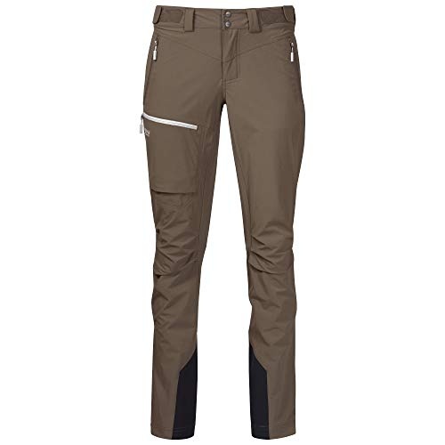 Bergans Breheimen Softshell W Pants Braun, Damen Hose, Größe M - Farbe Forest Brown