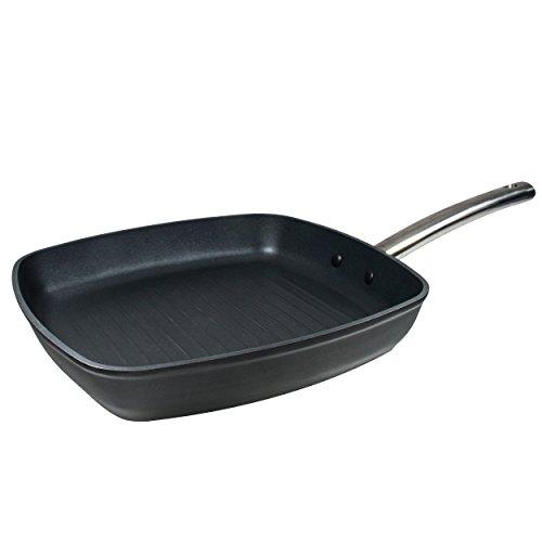 MasterPro Foodies Asador, Aluminio Forjado, Negro, 28 cm