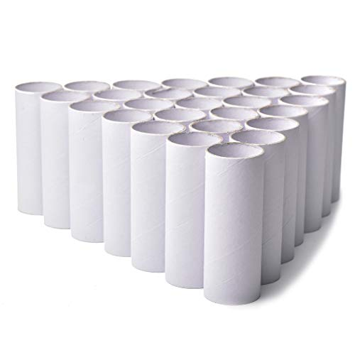 30 Pack Craft Rolls - White Cardboard Tubes for DIY Crafts | 6 Made of Thick, Premium Cardboard | Perfect Supplies for Classroom Art and Science Projects | Get Creative! Paint, Glue, Color and Cut!