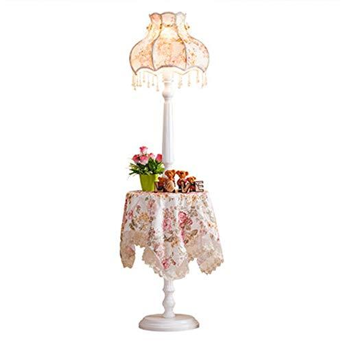 KANULAN - Lámpara de pie de estilo europeo para salón o habitación sencilla europea, princesas Luxury Creative Pastoral de boda, mesa baja lámpara de pie (color Foot switch)