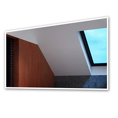Artforma 130 x 80 cm Espejo de Baño con Iluminación LED - Luz Espejo de Pared con Accesorios - Diferentes tamaños para Baño Dormitorio Maquillaje - L49