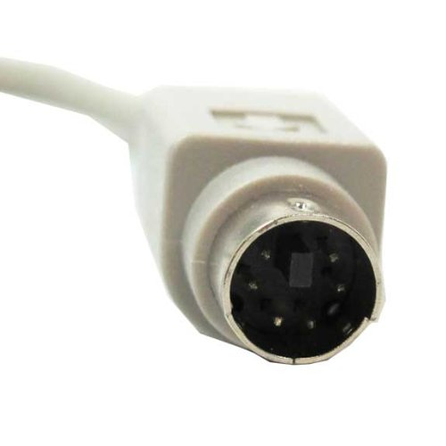 SF Cable, at Keyboard Cable Adapter, PS/2 (MiniDin6) Male to Din5 Female (6 inches)