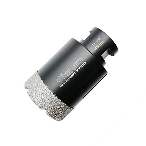 SHDIATOOL Diamond Core Drill Bits 1-3/4 Inch for Porcelain Ceramic Tile Marble Brick Vacuum Brazed Hole saw 45mm