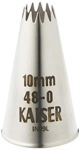 Kaiser Bec Couronne, Acier inoxydable sans Remise et sans Rebord, 10 mm