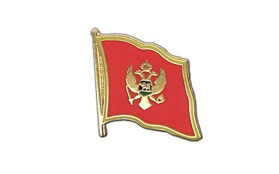 Montenegro Flaggen Pin, montenegrinische Fahne 2x2cm, MaxFlags®