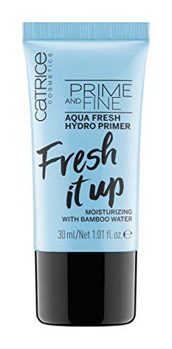 Catrice Prime And Fine Aqua Fresh Hydro Primer, Grundierung, transparent, pflegend, feuchtigkeitsspendend, grundierend, erfrischend, langanhaltend, ohne Parfüm, ohne Alkohol, ohne Parabene (30ml)