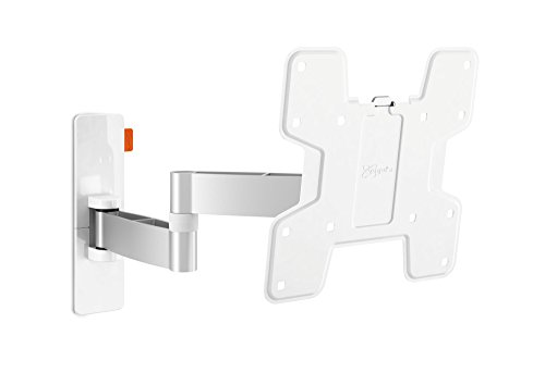 Vogels Wall 3145 Blanco, Soporte de Pared para TV 19-43 Pulgadas, Inclinable y Giratorio 180º, Máx 15 kg y con Sistema VESA Máx. 200 x 200