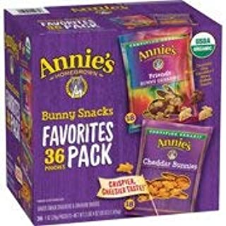 Annie's Organic 36ct Variety Pack, Cheddar Bunnies and Bunny Graham Crackers