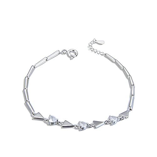 1 pulsera para mujer, triángulo, diamante, circonita, cadena de extensión de moda, personalizable, creatividad