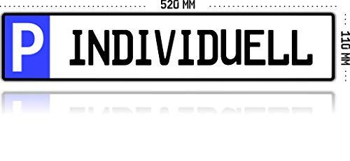 Parkplatzschild KFZ-Kennzeichen Nummernschild Wunschtext PRIVAT BESUCHER KUNDEN