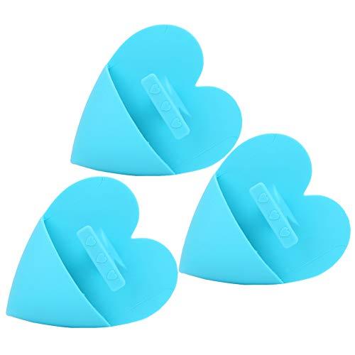 idalinya Cepillo de baño para bebés, Silicona Duradera Cepillo de Limpieza de Silicona de Rendimiento químico Estable, Efecto de Masaje no tóxico para bebés(Heart-Shaped Blue)