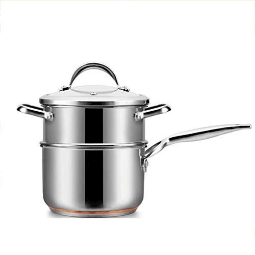 Pot de lait Mini ménage petit pot n'est pas facile à coller Pot petit pot Supplément alimentaire pour bébé Cuiseur vapeur 304 Acier inoxydableVapeur multifonctions pot de lait (taille : L)