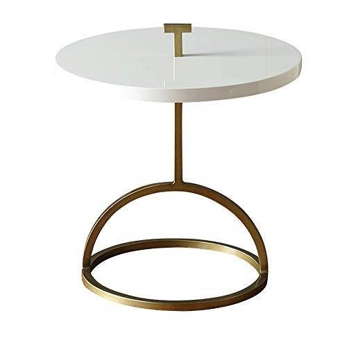 NBVCX Möbeldekoration Runder Akzent Tisch Metallrahmen Sofa Beistelltisch Couchtisch Gold (Farbe: Weiß 45 * 42CM) (Farbe: Schwarz 42 * 51cm)