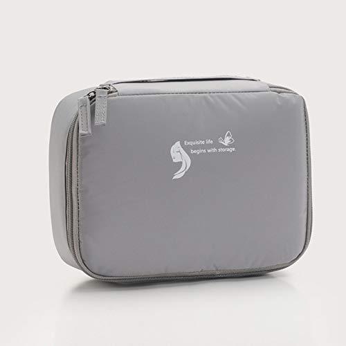 Sac cosmétique Voyage Waterproof Organisateur Portable Trousse Femmes Mode Sacs Valise et Toilette Big Sacs de Maquillage Rose (Color : Gray)