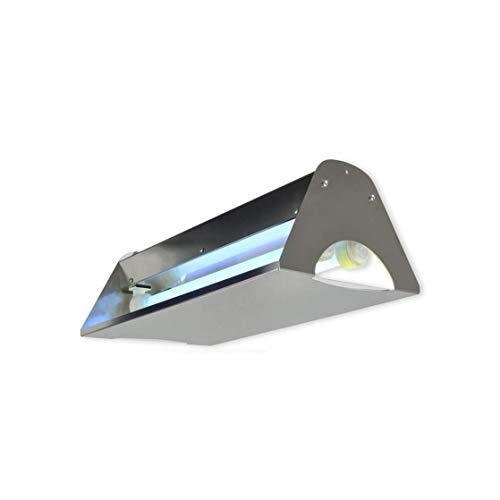 Multitecno Elettroinsetticida Insetticida Lampada HACCP a Piastra collante 30W Swing 30 IP65 in Acciaio Inox con TAVOLETTA Adesiva (49X29 cm)