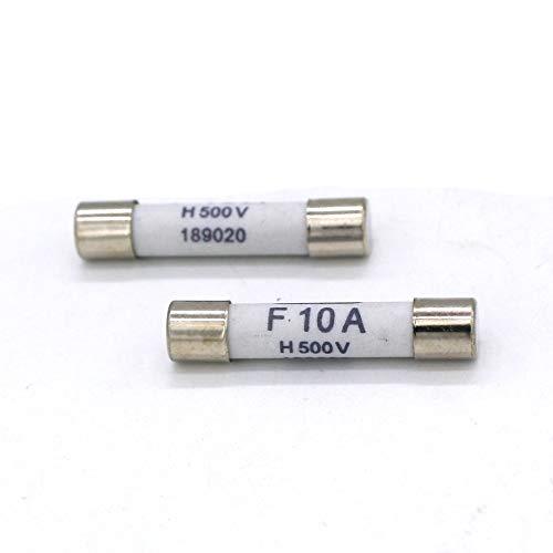 Digital Multi Meter Fuse F10A 500V Fast Acting Ceramic Fuse For DC Digital Multi Meter 6.3 x 32mm