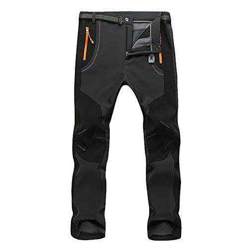 VPASS Pantalones para Hombre,Pantalones de Trekking Softshell Pantalones Impermeables Resistente Pantalones de Escalada Trabajo Pantalones Trabajo Pantalones Jogging Pants