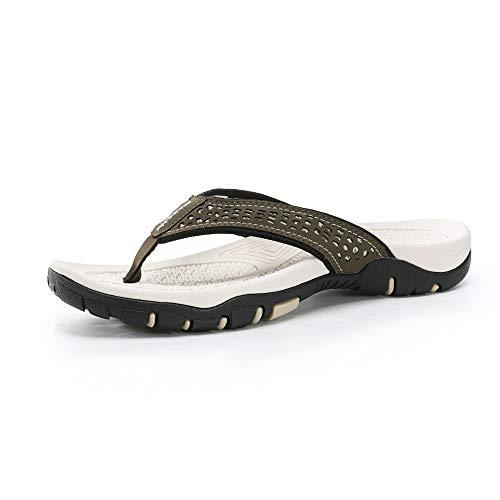 GYCZC Hausschuhe Sommer Europäische Und Amerikanische Herren Flip Flops Sandalen Hausschuhe Füße rutschfeste Strandschuhe Mit Flachem Absatz