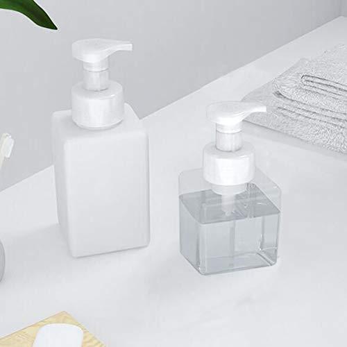泡ボトル250ml450ml四角洗剤用詰め替え容器泡ボトル泡ポンプボトルホワイト詰替ボトル泡ハンドソープボディソープ洗顔フォーム(250ml)
