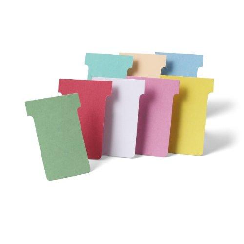 Nobo Kartentafel Zubehör T-Karten, Index 2, 100 Stück, pink