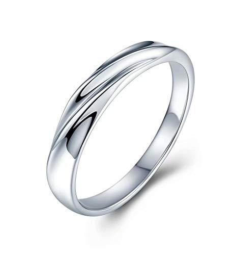 JUDYの秘密<愛の言葉>純銀製指輪 男女兼用 オシャレ レディースリング メンズリング ペアリング キラキラ 結婚指輪 婚約指輪 専用ボックスつき(20号)
