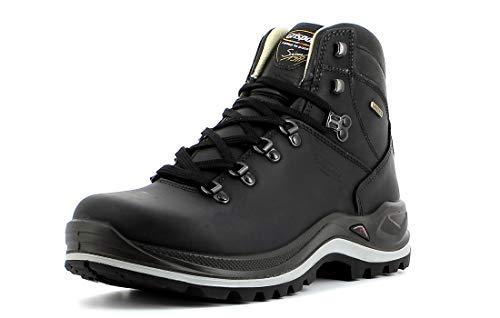 Grisport Unisex Schuhe Herren und Damen aus der Ranger Linie, Trekking- und Wanderstiefel aus hochwertigem Leder, Membrankonstruktion, EU 42,Schwarz