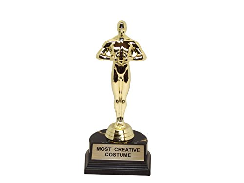 """aahs!! Engraving Halloween Party Trophies-7"""" H x 3.25"""" L x 3.25"""" W (Most Creative Costume)"""