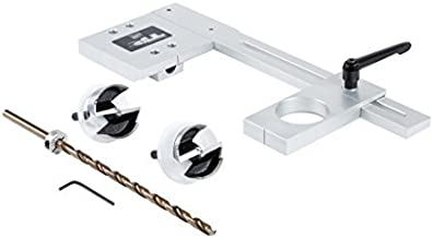"""product image for TP-PLJ - Puck Light Jig Kit, 2-1/8"""" and 2-1/4"""" Forstner Bits with Case - for LED Puck Lights and Light Strips - Made in USA - True Position Tools"""