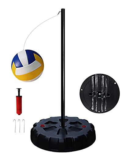 Zkung sports Portable Tetherball Set with Base and Poles, Great Backyard Fun for Kids and Family