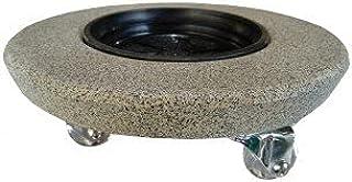 Rodizio suporte para vasos com roda de silicone redondo 30 pedra